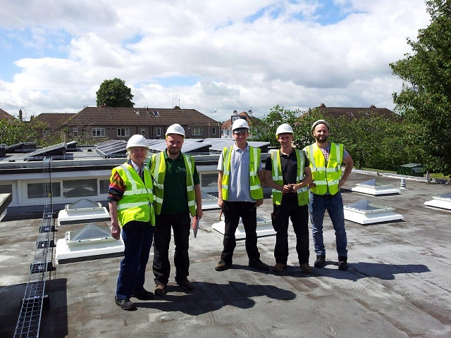 Carrick Knowe Primary School - completed 50kW 8th July 2016. / 40,000kWh per year